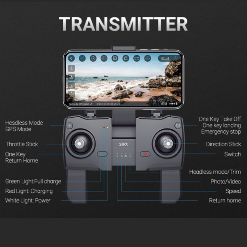 SJRC F11 PRO GPS Drone With Wifi FPV 1080P/2K HD Camera F11 Brushless Quadcopter 25 minutes Flight Time Foldable Dron Vs SG906 5
