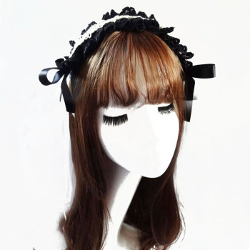 Gothic Lace Ribbon Headband Sweet Lolita Girls KC Vintage Hair Accessories For Women Hairband Headwear Bowknot Cosplay  1