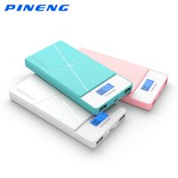 Original Pineng PN 983 Dual USB Charging 10000mAh Portable Power Bank External Battery Charger With LCD