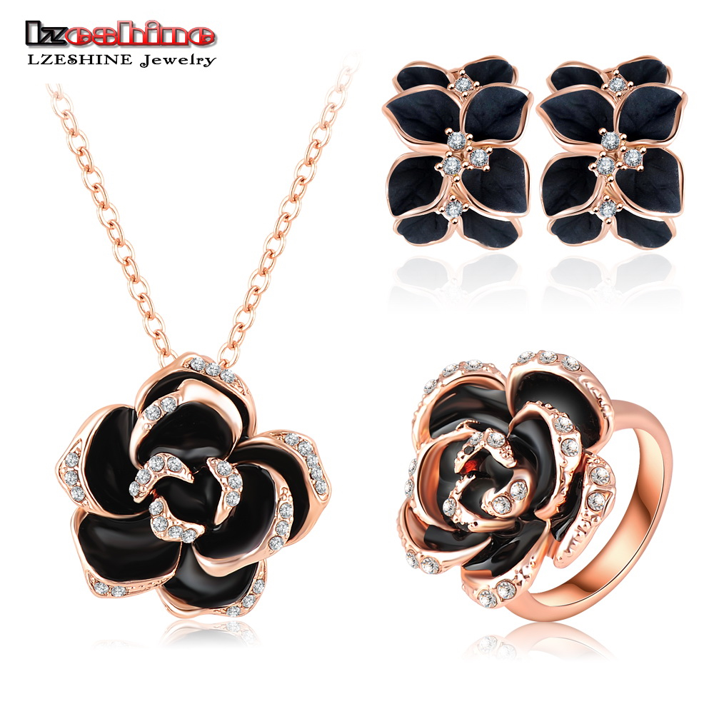 LZESHINE Top Jewelry Set Rose Gold Color Austrian Crystal ...