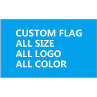 120X180cm (4x6FT) Polyester we design any logo any color Custom gift single side flag banner