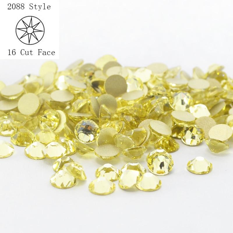 Non hotfix Rhinestone Crystal Strass Gliter 3D Nail Art Crystals  1440pcs Lot ss20 Jonquil Gems decoration 08a0f7264fa7