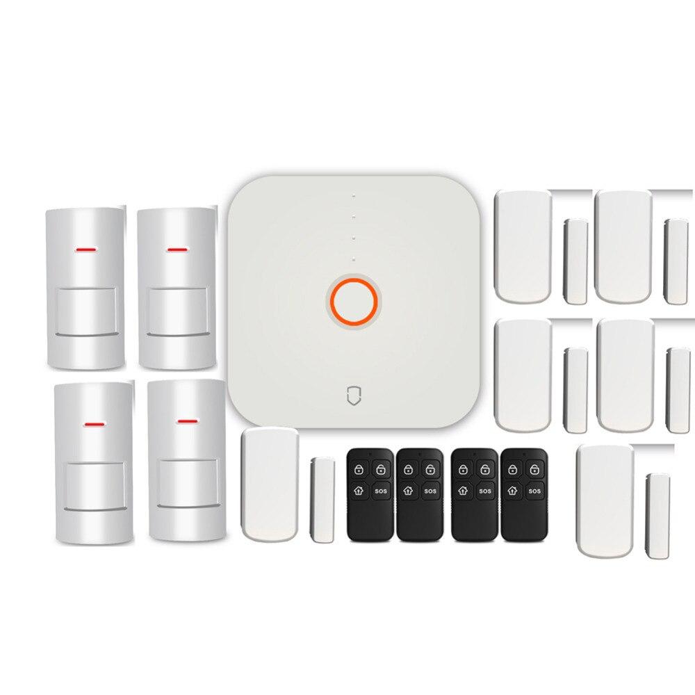 Wolf-Guard 2.4G Wifi Wireless Home Security Alarm Burglar System DIY Kit APP Control Motion Detector Sensor Burglar Alarm System