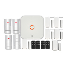 Wolf-Guard WS1N 2.4G Wifi Wireless Home Security Alarm System DIY Kit APP Control Motion Detector Sensor Burglar Alarm System wifi gsm home burglar security alarm system motion detector app control fire smoke detector alarm with outdoor solar siren