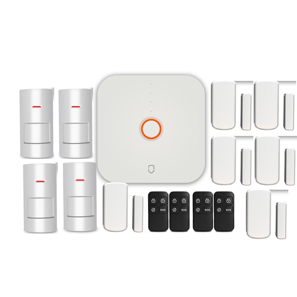 Wolf Guard WS1N 2.4G Wifi Wireless Home Security Alarm System DIY Kit APP Control Motion Detector Sensor Burglar Alarm System
