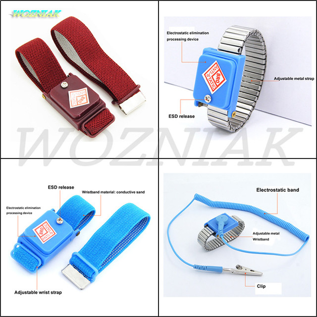 US $5 5 |Free Shipping Wrist strap Cord / wireless anti static  Electrostatic ring Electrostatic conductive safety device Maintenance  tool-in Power