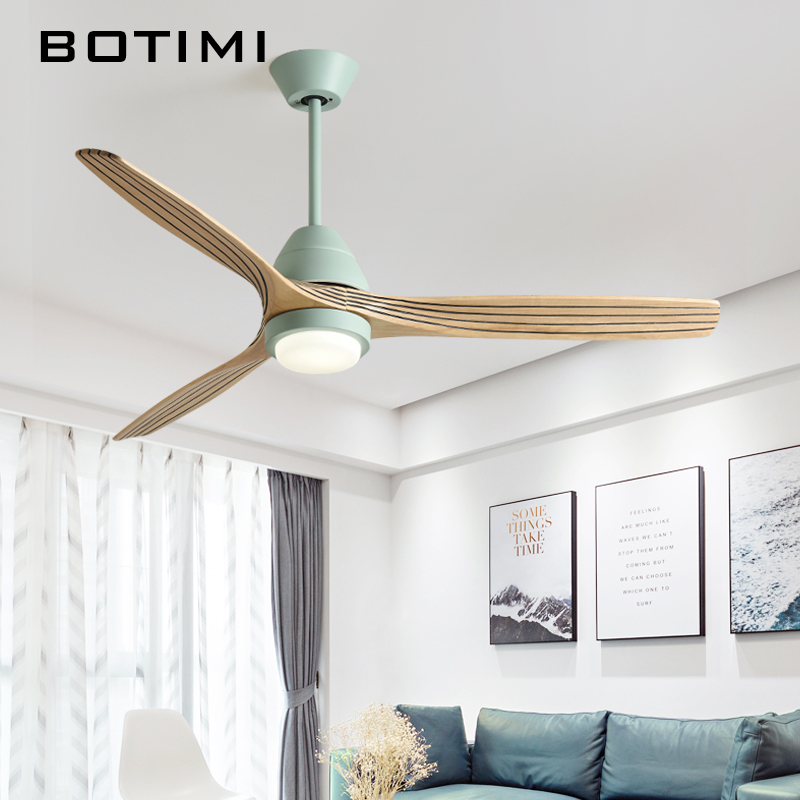 Botimi 220 v reversão fuction 52 Polegada led ventilador de teto com luzes para sala estar ventilateur plafon quarto ventilador refrigeração lâmpada