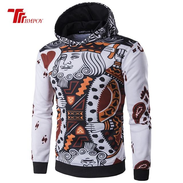 Fashion Hoodies Men Long Sleeve Hoodie poker Playing cards 3d print Sweatshirt Mens Moletom Masculino Hoodies Slim Tracksuit