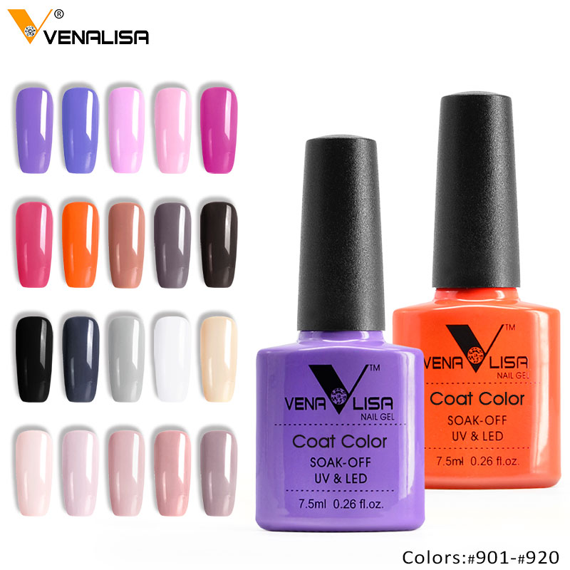 Venalisa Fashion Bling 7,5 ML Soak Off UV Gel Nail Gel Polsk Kosmetik Nail Art Manicure Nails Gel Polsk Shellak Nail Larn