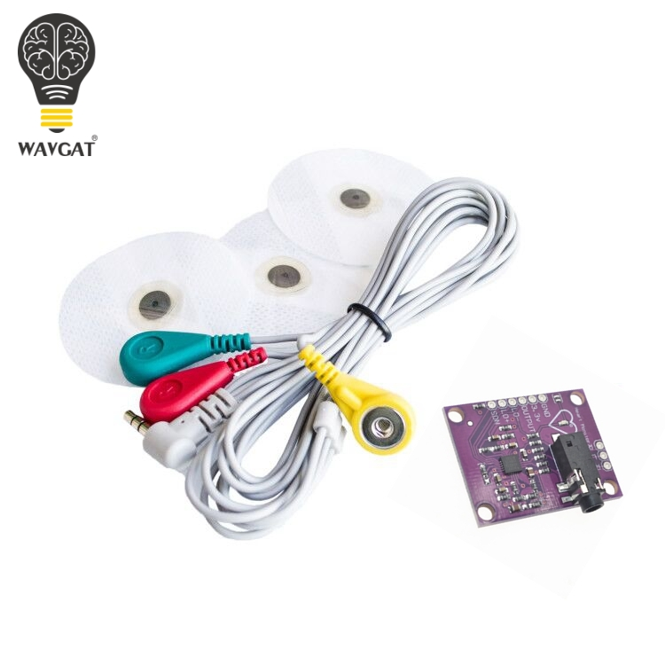 WAVGAT <font><b>Ecg</b></font> module <font><b>AD8232</b></font> <font><b>ecg</b></font> measurement pulse heart <font><b>ecg</b></font> monitoring <font><b>sensor</b></font> module kit image