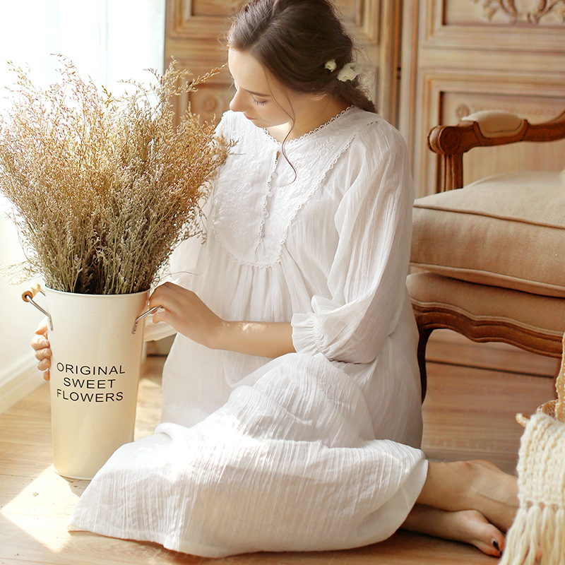 Pregnant Women Pajamas 2018 Autumn Winter Court Retro Lace Korean Pijamas Sleepwear Cotton Long-sleeved Suit Nightgown YFQ224 cotton materinty nursing pajamas long sleeve pijamalar hamile plaid pajamas set maternity sleepwear for pregnant women 50m084