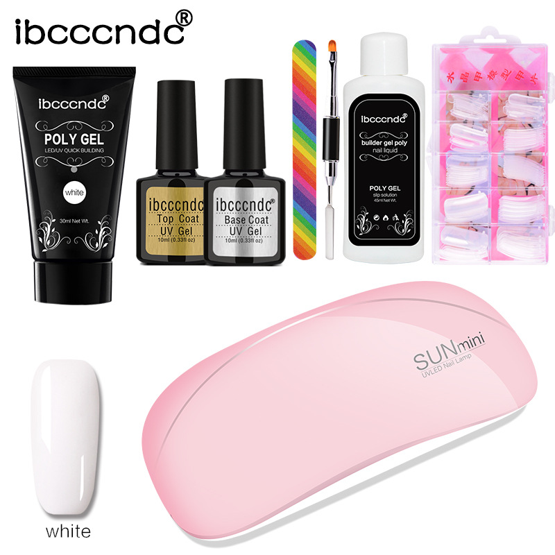 Image 4 - 1 set Extend Builder Polygel Nail Kit Poly Gel Set Nail Quick Extension UV LED Hard Gel Acrylic Builder Gel with Nail Lamp-in Sets & Kits from Beauty & Health