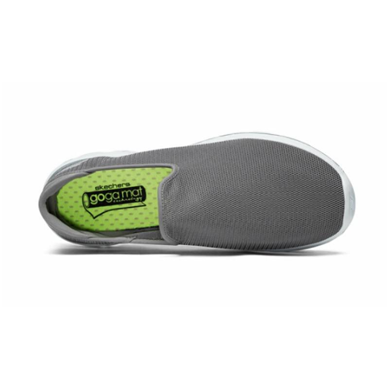 Skechers/Мужская обувь; Лоферы для прогулок; повседневная обувь черного цвета без застежки; Мужская Удобная дышащая обувь на плоской подошве; Мужская брендовая Роскошная обувь; 54062 BKW - 4