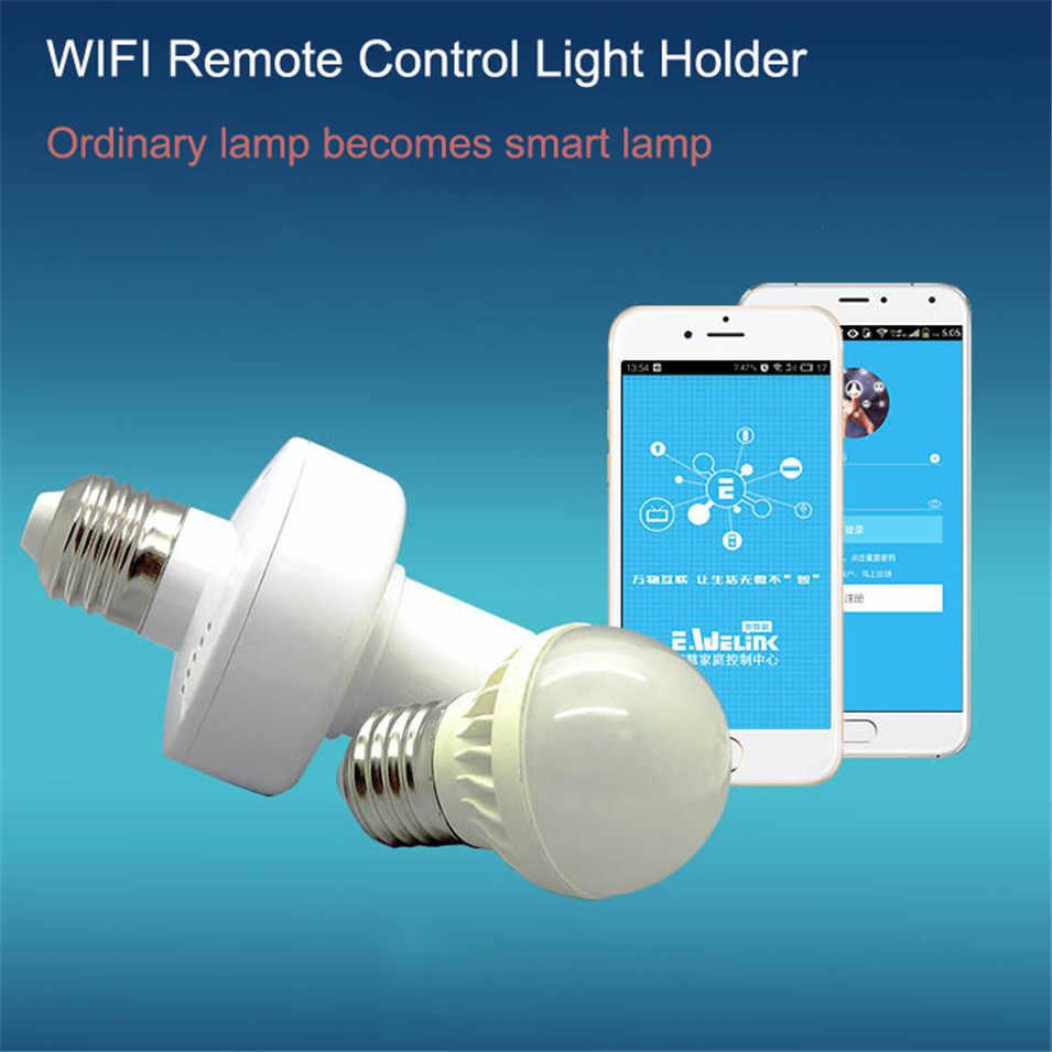 Sonoff Slampher RF 433 sterowania bezprzewodowego świecznik E27 uniwersalny bezprzewodowy światła lampy żarówki uchwyt na rzecz inteligentnego domu współpracuje z Alexa