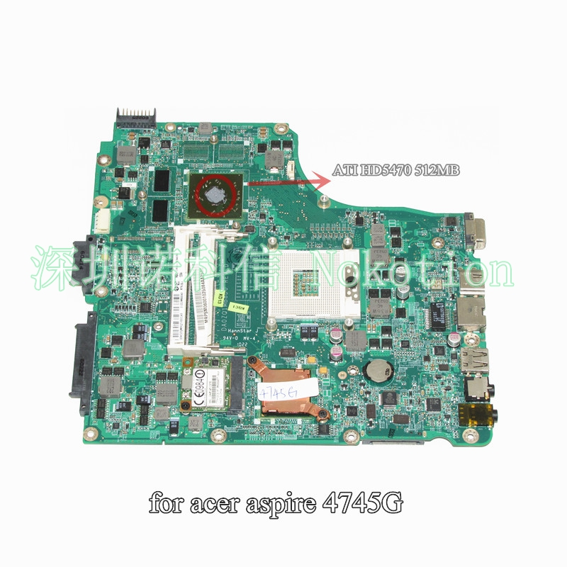 DA0ZQ1MB8D0 MB.PSM06.001 MBPSM06001 for acer aspire 4745 4745G laptop motherboard HM55 ATI HD5470 DDR3 acer aspire 4745g б у