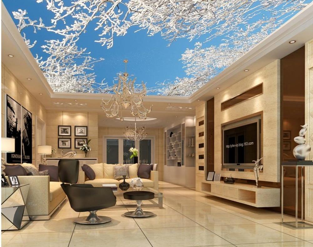 Tapisserie Moderne Pour Chambre Adulte ჱmural papel rêve cèdre plafond ombres 3d papier peint