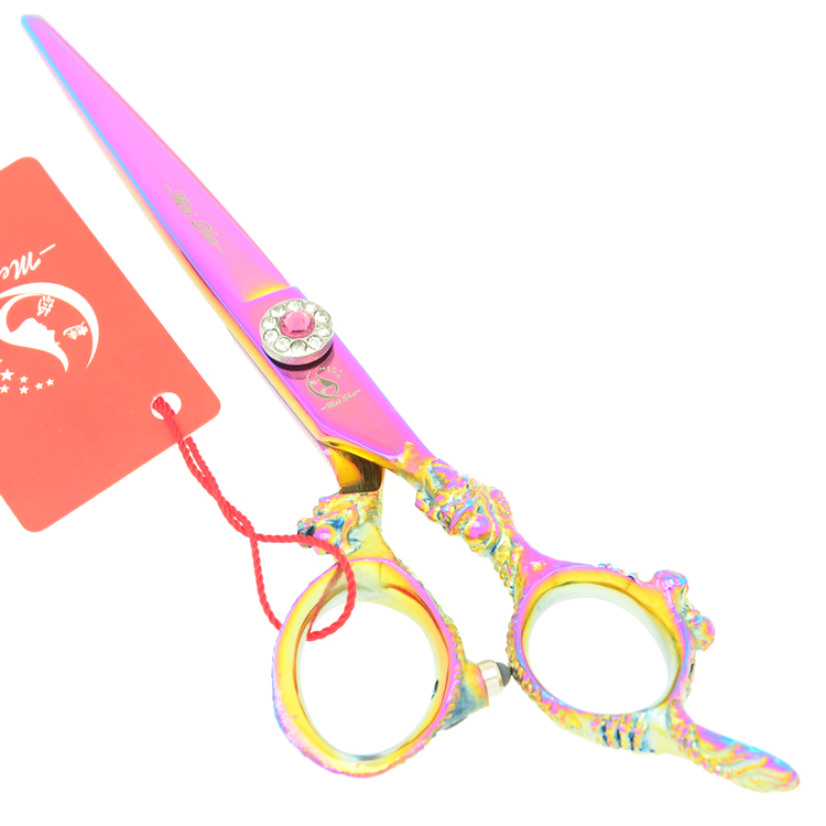 6.0 Meisha Hairdressing Cutting Scissors Dragon Handle Professional Barber Hair Scissors Thinning Shears for Home Use,HA0287 6 inch professional hairdressing scissors set cutting and thinning barber shears high quality dragon handle ruby style