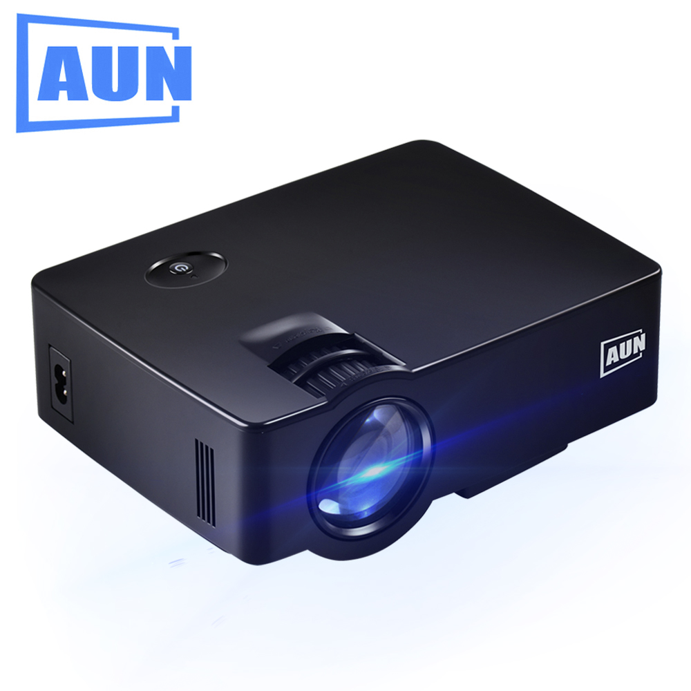 Aun projector akey1 1800lumens led tv mini multimedia for Projector tv reviews