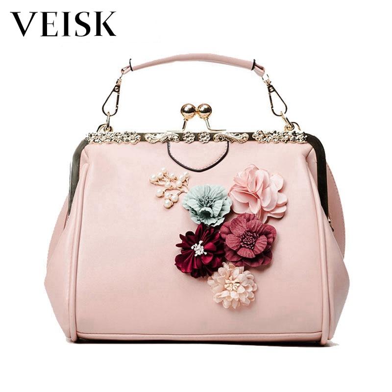 2018 Flower Casual Women Messenger Bags PU New Crossbody Bags Ladies Shoulder Purse And Handbags Bolsas Feminina Clutches