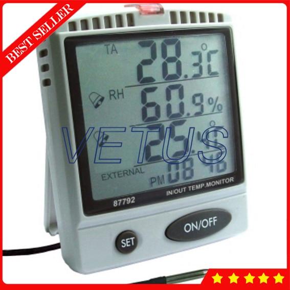 AZ87792 Desktop Temp Humidity Monitor With Alarm Function влагомер az87792 87792