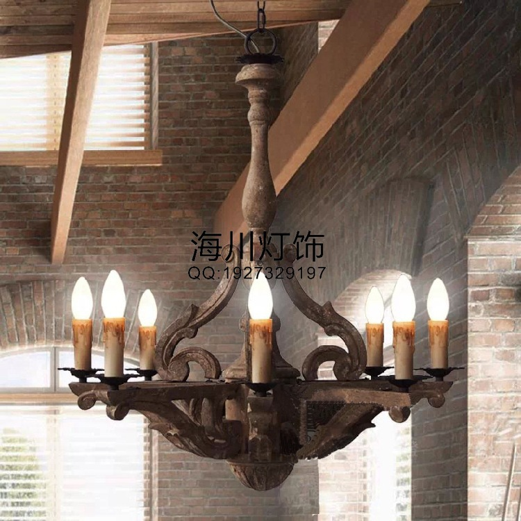 American antique chandelier vintage wood dining restaurant Cafe Club House Bar lighting projects loft vintage edison glass light ceiling lamp cafe dining bar club aisle t300
