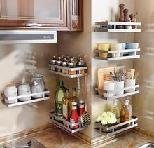 Kitchen seasoning shelves save space stainless steel without punching the wall hanging on the wall condiment storage shelves 304 stainless steel non porous wall hanging kitchen seasoning rack multi purpose household shelves wx8071110