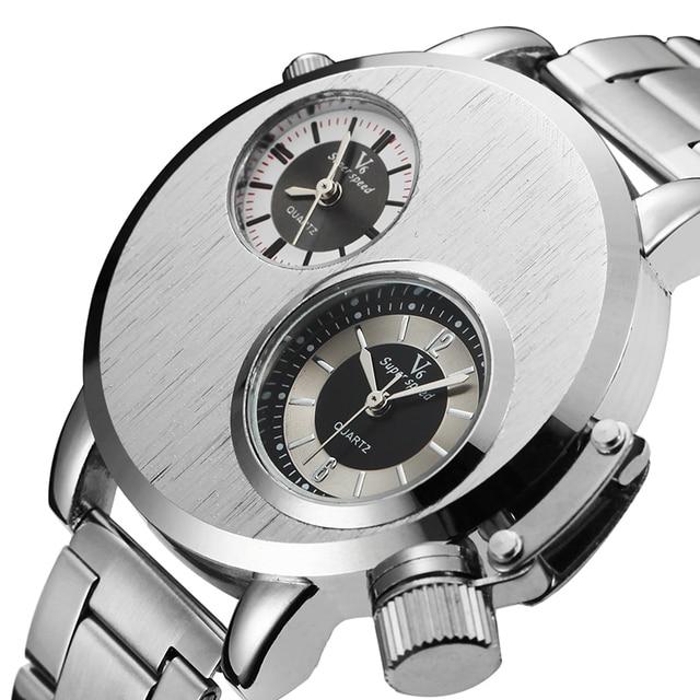 Часы наручные мужские с двойным salvatore ferragamo наручные часы
