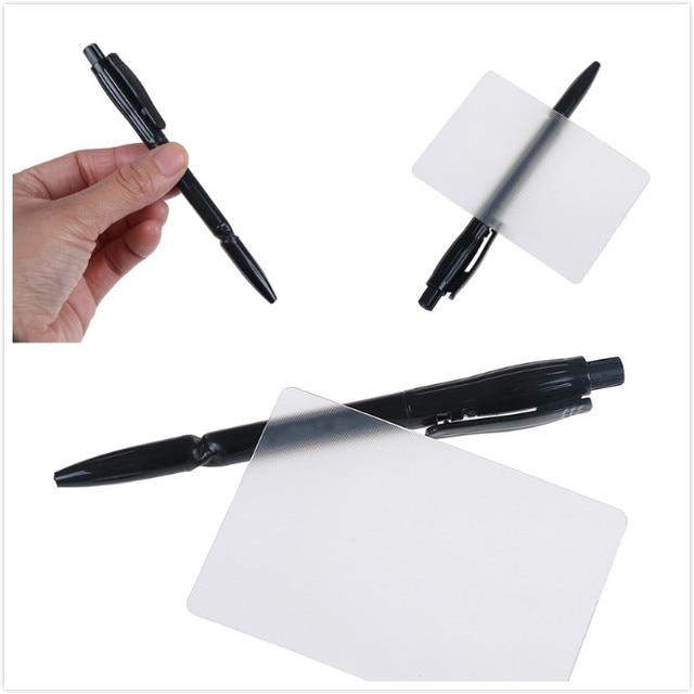 1 pièces de la carte de lobjectif lubies distorsion de la Perspective gros plan tours de magie de rue pour enfants Gimmick délicat facile à faire pour débutant avec un stylo