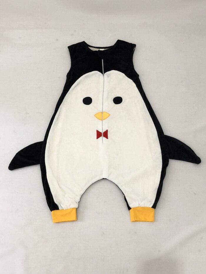 Детский спальный мешок, фланелевый мягкий удобный и удобный спальный мешок-с безопасной застежкой-молнией-Детские подушки унисекс/Детская Пижама - Цвет: Penguin