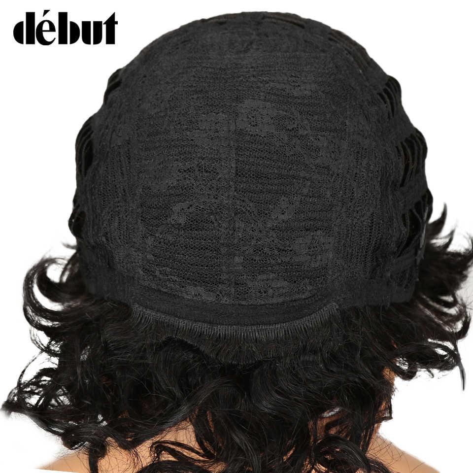 Дебютные короткие человеческие волосы парики бразильские кудрявые человеческие волосы парик дешевые Омбре парики для черных женщин Бесплатная доставка