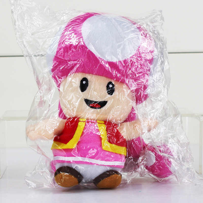 17cm Toad Plush Toy Super Mario Plush Toys Mushroom Sister Toadette Stuffed Plus