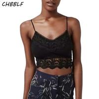 New European Lace Halter Top Ladies Sexy Short Shirt Cropped Feminino Camis Pol0619