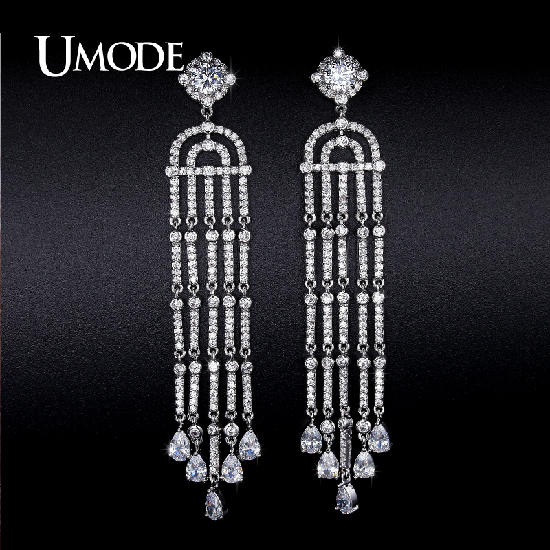 font b UMODE b font New Imitation Diamond Dangle font b Earrings b font For