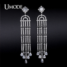 UMODE New Imitation Diamond Dangle Earrings For Women Brincos Grandes Fashion Para Mulheres Christmas Gifts Bijoux Femme AUE0228