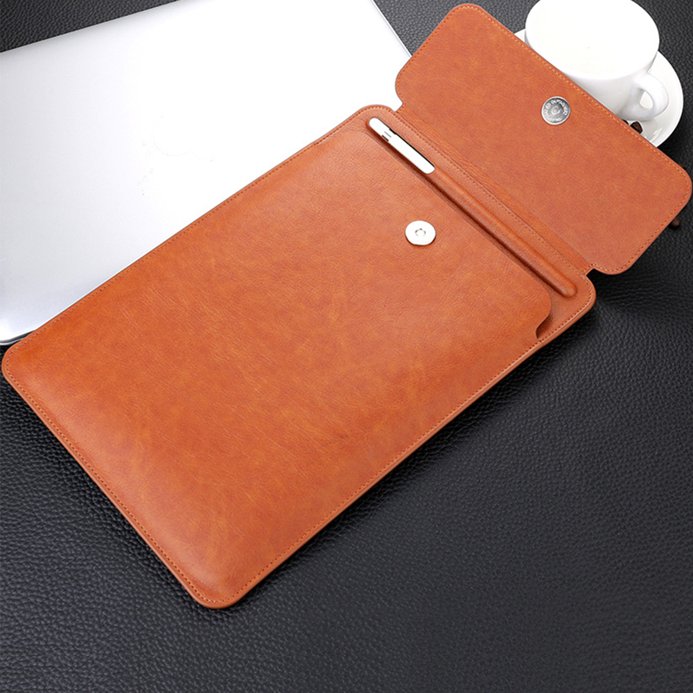 For iPad Pro 10.5 sleeve case with pencil holder slot Pu leather protective cover bag for tablet case 9.7 10.5 2018 new ipad цена