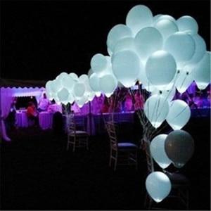 Image 2 - 100 ADET LED düğün parti balonlar beyaz glow aniversario