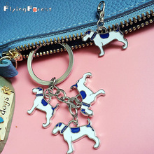 English Foxhound key ring Keychain dog on bag Car Chow chow keychains Gifts chains for men wholesale cheap