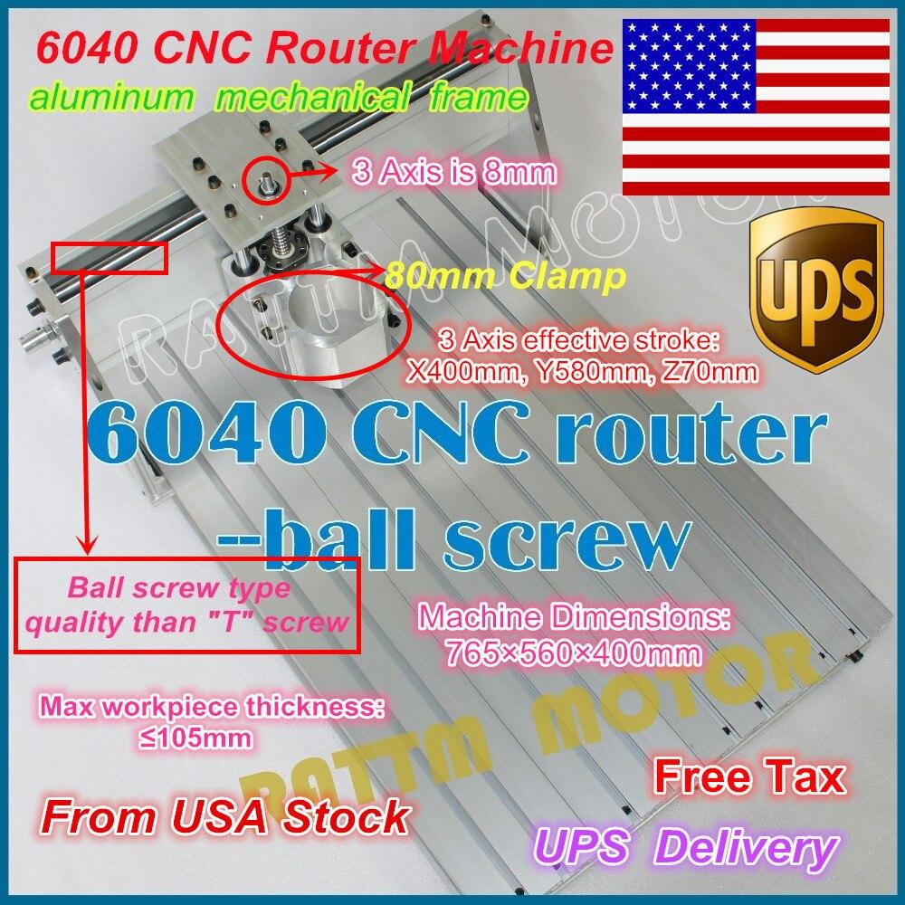 De ee.uu./envío libre 6040 CNC Router grabador grabado fresadora ...