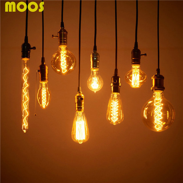 Hot Edison Light Bulb Vintage Urban Chandelier Bulbs E27 110v 220v 40w Filament Tungsten Gl Lamps