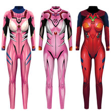 VIP Fashion Evangelion Asuka Langley Sōryū Celana Kodok Anime Comic Cosplay Kostum Top Warrior Kostum Zentai Sesuai Warna(China)