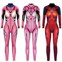 VIP MODE Evangelion Asuka Langley Soryu Overalls Anime Comic Cosplay Kostüm Top Krieger Kostüm Zentai Anzug Body
