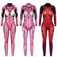 Vip di Modo Evangelion Asuka Langley Soryu Tute E Tute da Palestra Anime Comic Cosplay Costume Top Guerriero Costume Suit Zentai Body