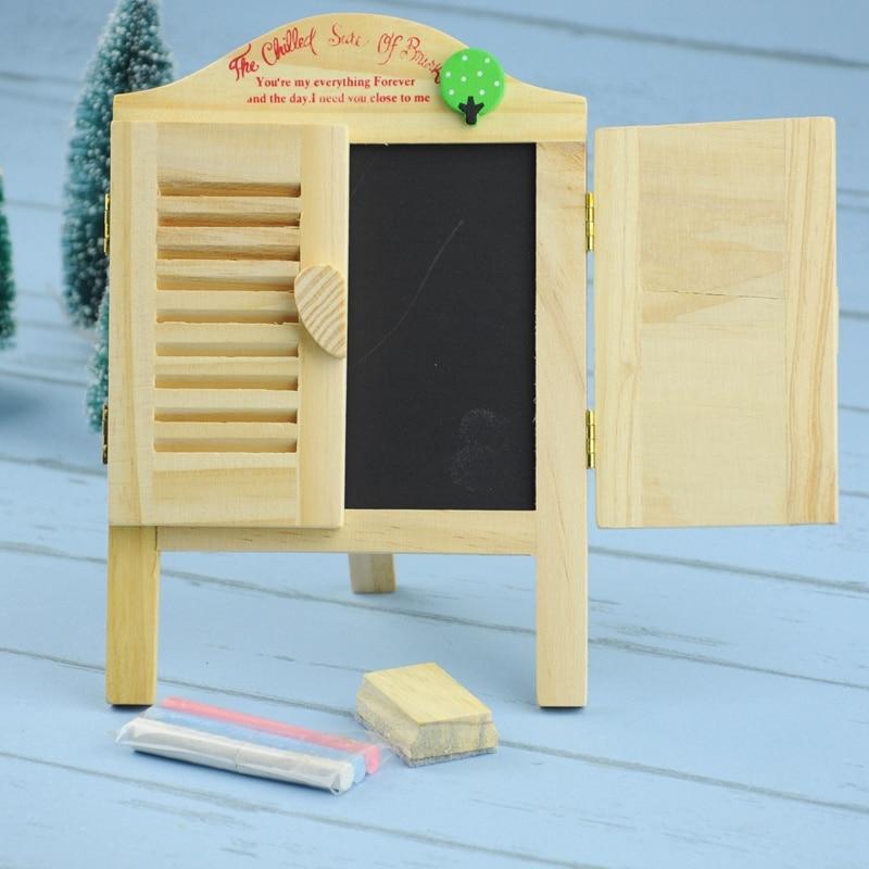 1 Set Shutter-Style 23cmX15cm Blackboard For Shcool Stationery & Office & Home