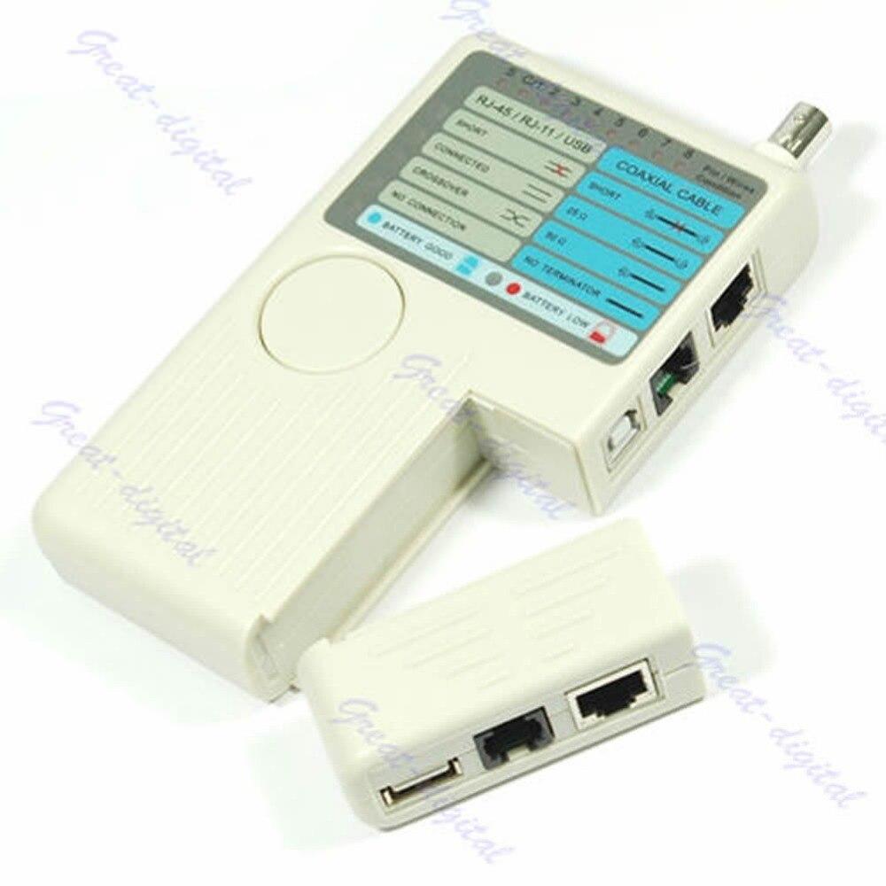 Диагностический инструмент новый пульт дистанционного RJ11 RJ45 USB BNC сети LAN телефонный кабель тестер