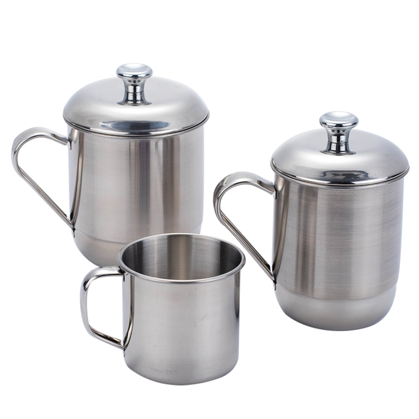 240/465/600ML NEW Portable Outdoor Travel 304 Stainless Steel Coffee Tea Mug Cup For Camping/Travel/Home Use milk coffee cup