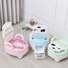 Cartoon Cow Baby Potty Toilet Large Capacity Comfortable Backrest Portable Multicolor Safety Non-slip Childrens