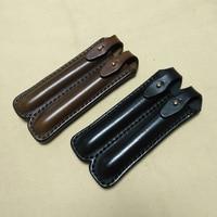 high level cowhide leather pen pouch retro pencile case pen bag stationary pouch leather fountain pen case pencil roll