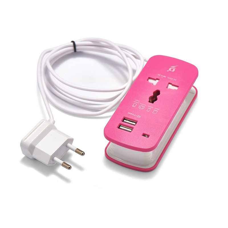 Listwa zasilająca ue usa UK wtyczka przedłużacz zasilania gniazdo Adapter podróżny 1.5 m kabel przenośny USB inteligentny telefon tabletki ładowarka pulpit Hub