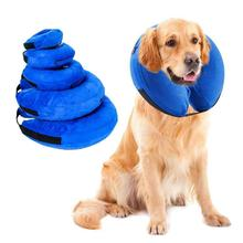 Removable Washable Zipper Inflatable Cat Dog Recovery Wound Healing Protective Collar Anti-bite PVC Comfortable Pet Supplies