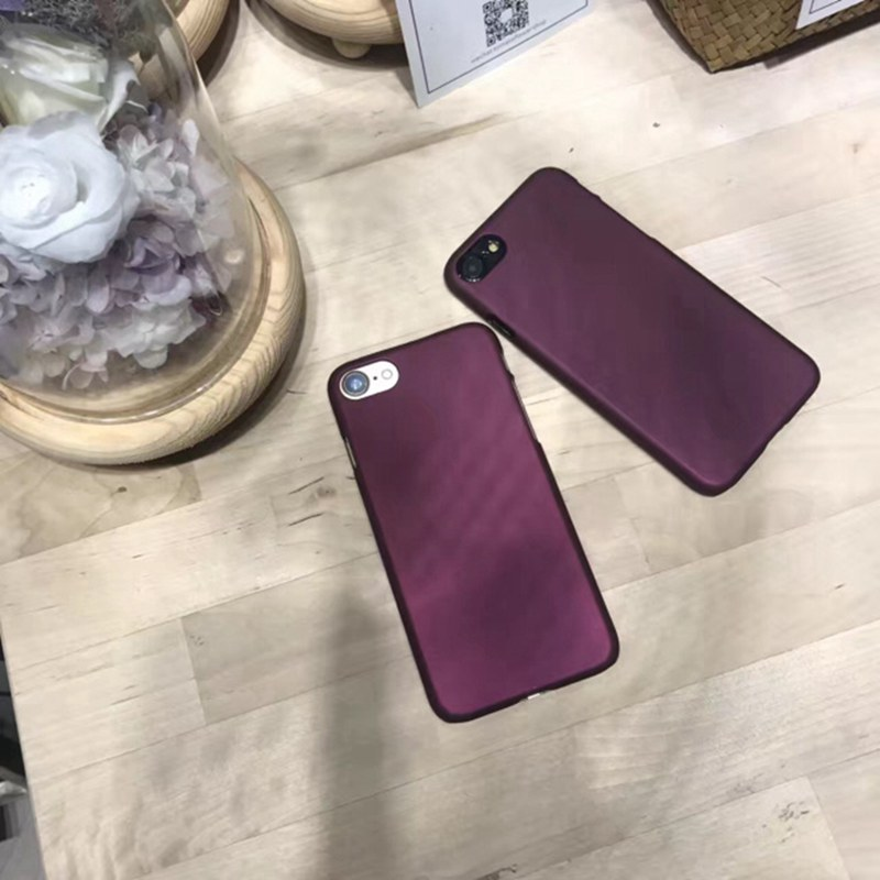 KACOOL Luxury Wine Red Case For iPhone 7 Case For iPhone 7 Plus 6 6s Plus Cases Fashion Hard PC Cover For iPhone 7 8 Plus Cases